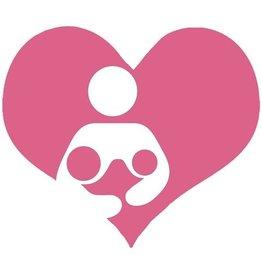 Nappy Shoppe Sticker - Twin Breastfeed Heart