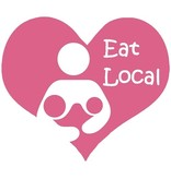 Nappy Shoppe Sticker - Twin Eat Local Breastfeed Heart