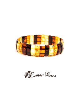 Lemon Vines Luxury Deluxe Amber Bracelet