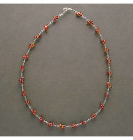 Wired Amber Necklace