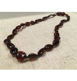 BE Amber Necklace - Screw Cherry Bean Polished 10-11 inch
