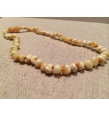 BE Amber Necklace - Screw Milk Round Polished 10-11 inch