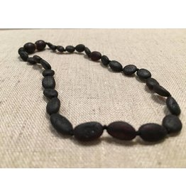 BE Amber Necklace - Screw Cherry Bean Raw 10-11 inch