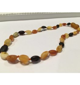 BE Amber Necklace - POP Multi Bean Raw 10-11
