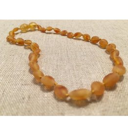 BE Amber Necklace - POP Honey Bean Raw 10-11