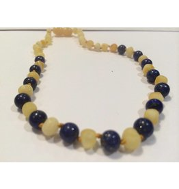 Baltic Essentials BE Gemstone Amber Lapis Light Front 10-11 Screw