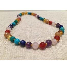 BE Gemstone Amber Rainbow All Over 10-11 Screw