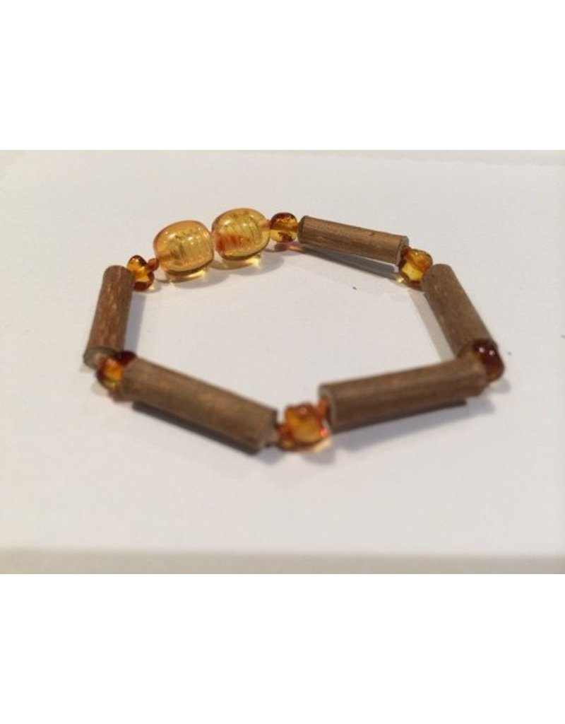 Baltic Essentials BE Hazelwood Light Amber Baby Bracelet