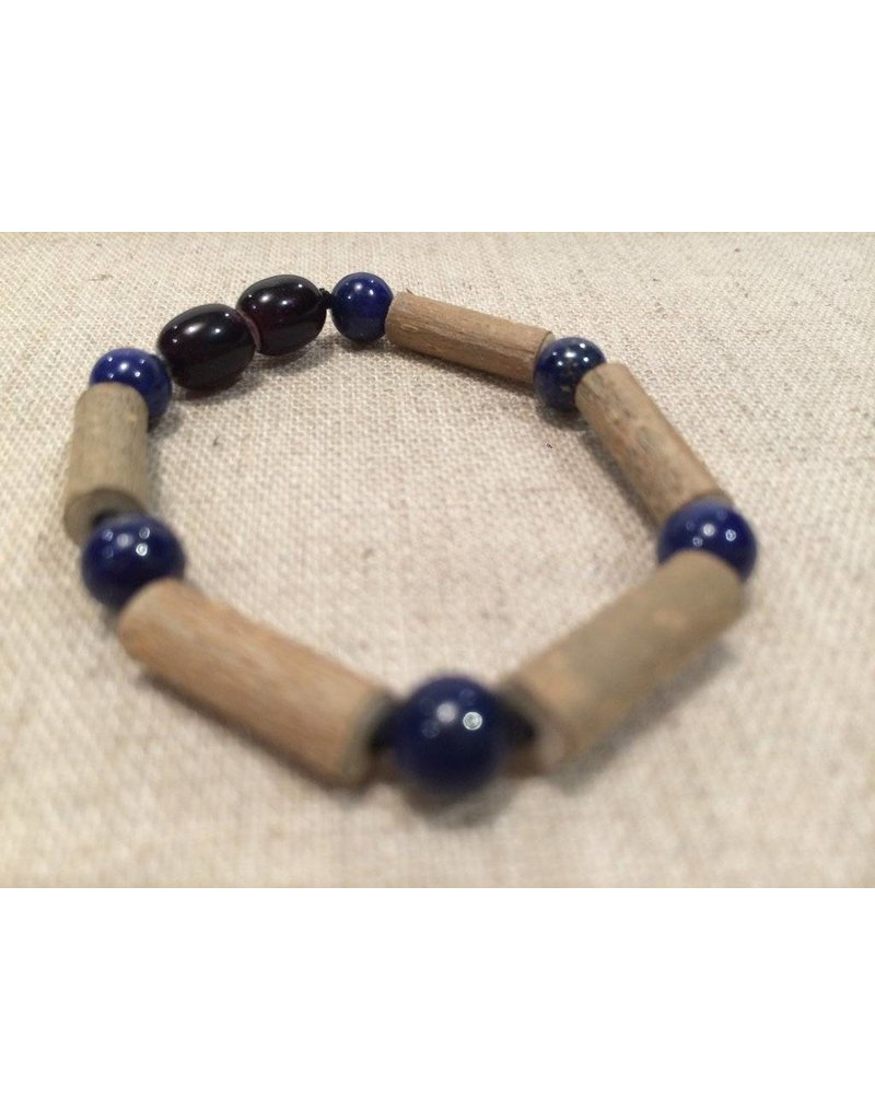 Baltic Essentials BE Hazelwood Lapis Lazuli Baby Bracelet