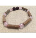 Baltic Essentials BE Hazelwood Rose Quartz Baby Bracelet