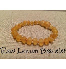 BE Amber Bracelet Raw Baby Screw Lemon