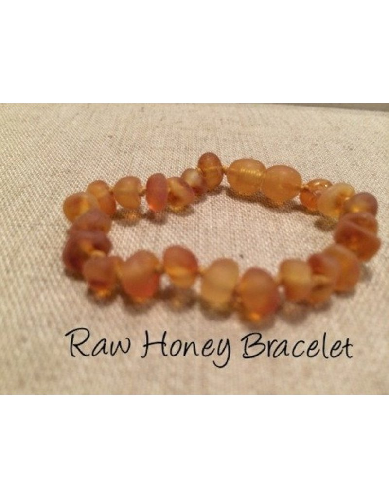 BE Amber Bracelet Raw Baby Screw Honey