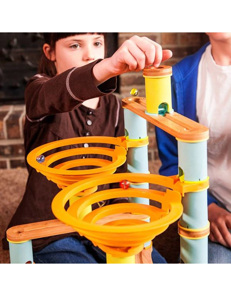 Fat Brain Toys Bamboo Builder Marble Run by Fat Brain