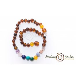 HA Baby Amber & Gemstone Necklace