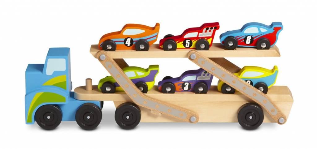 Melissa & Doug Mega Race-Car Carrier