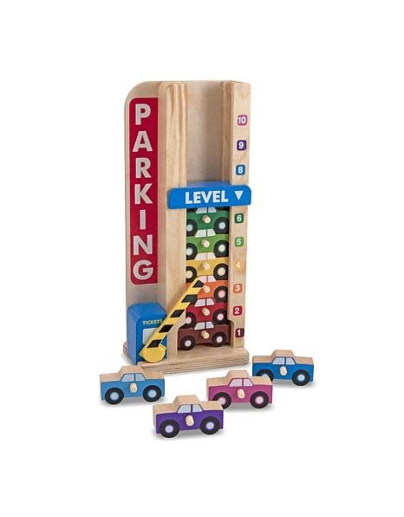 Melissa & Doug Stack and Count Parking Garage