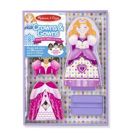 Melissa & Doug Crowns and Gowns Magnetic Dress Up Set