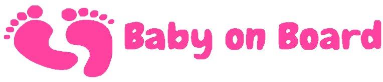 Nappy Shoppe Sticker - Baby on Board
