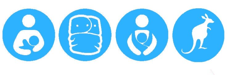 Nappy Shoppe Sticker - Breastfeed, Cloth Diaper, Babywear, Kangaroo