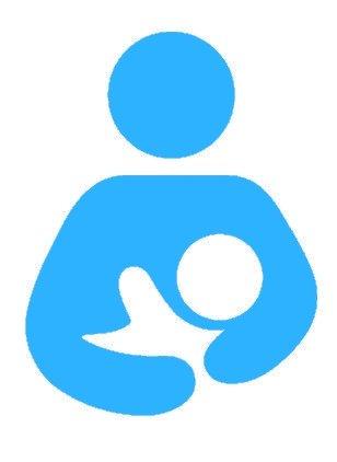 Nappy Shoppe Sticker - Breastfeeding Symbol