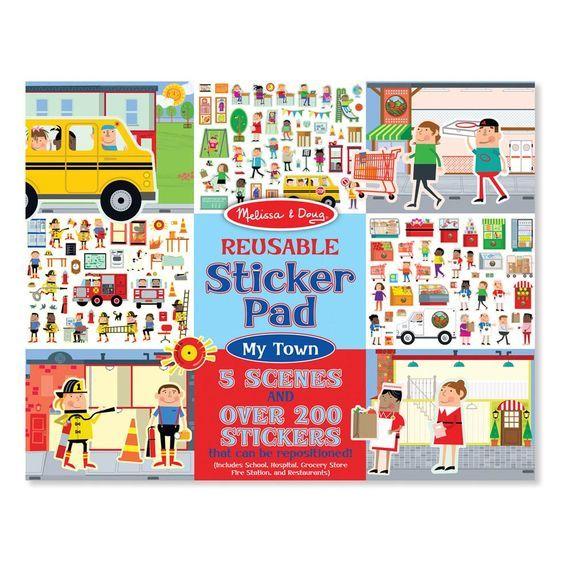 Melissa & Doug My Town Reusable Sticker Pad