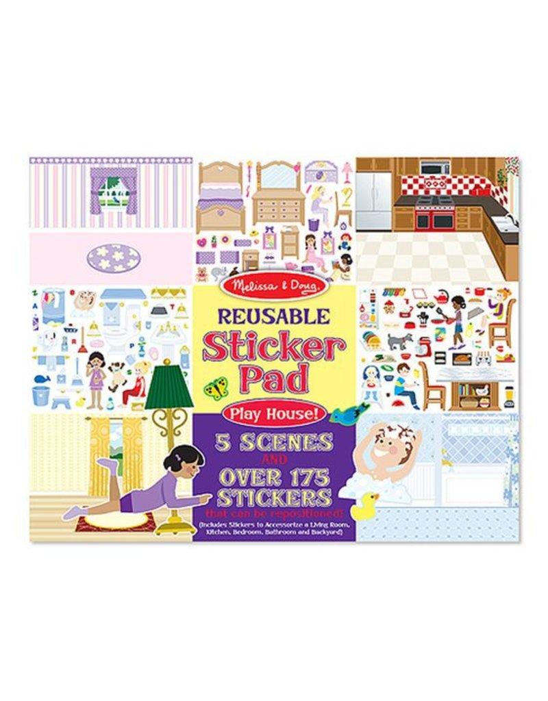 Melissa & Doug Play House! Reusable Sticker Pad