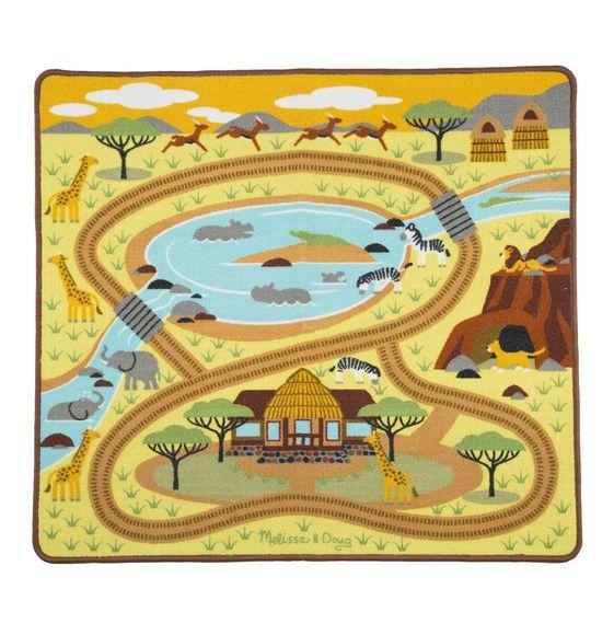 Melissa & Doug Round the Savanna Safari Rug