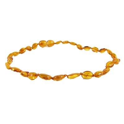 Amber Monkey Amber Monkey Necklace Polished Honey Bean 10-11 Inch