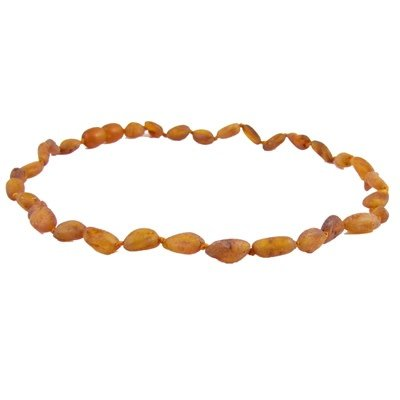 Amber Monkey Necklace Raw Cognac Bean 10-11 Inch
