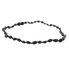 Amber Monkey Amber Monkey Necklace Polished Chestnut Bean 10-11 Inch