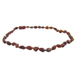 Amber Monkey Amber Monkey Necklace Raw Chestnut Bean 10-11 Inch
