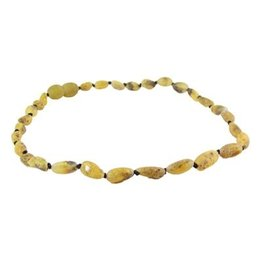 Amber Monkey Amber Monkey Necklace Raw Pear Bean 10-11 Inch