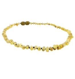 Amber Monkey Amber Monkey Necklace Raw Baroque Pear 10-11 Inch