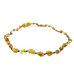 Amber Monkey Amber Monkey Necklace Polished Pear Bean 10-11 Inch