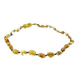 Amber Monkey Amber Monkey Necklace Polished Pear Bean 10-11 Inch