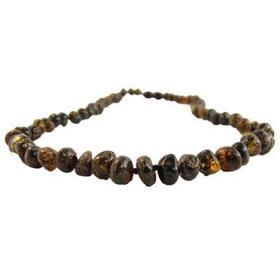 Amber Monkey Amber Monkey Necklace Polished Baroque Olive 10-11 Inch