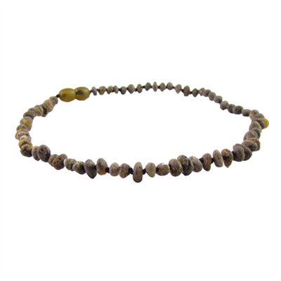 Amber Monkey Amber Monkey Necklace Raw Baroque Olive 10-11 Inch