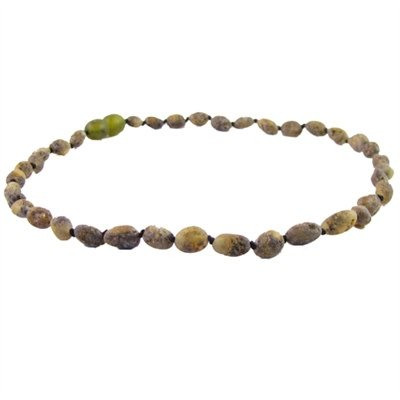 Amber Monkey Amber Monkey Necklace Raw Olive Bean 10-11 Inch
