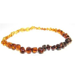 Amber Monkey Necklace Polished Baroque Rainbow 10-11 Inch