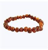 Amber Monkey Bracelet Cognac Screw 7-8 Inch