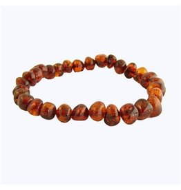 Amber Monkey Bracelet Cognac Screw 7-8 Inch