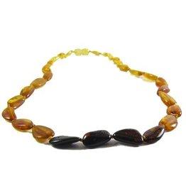 Amber Monkey Amber Monkey Bracelet Polished Rainbow Bean Screw 7-8 Inch