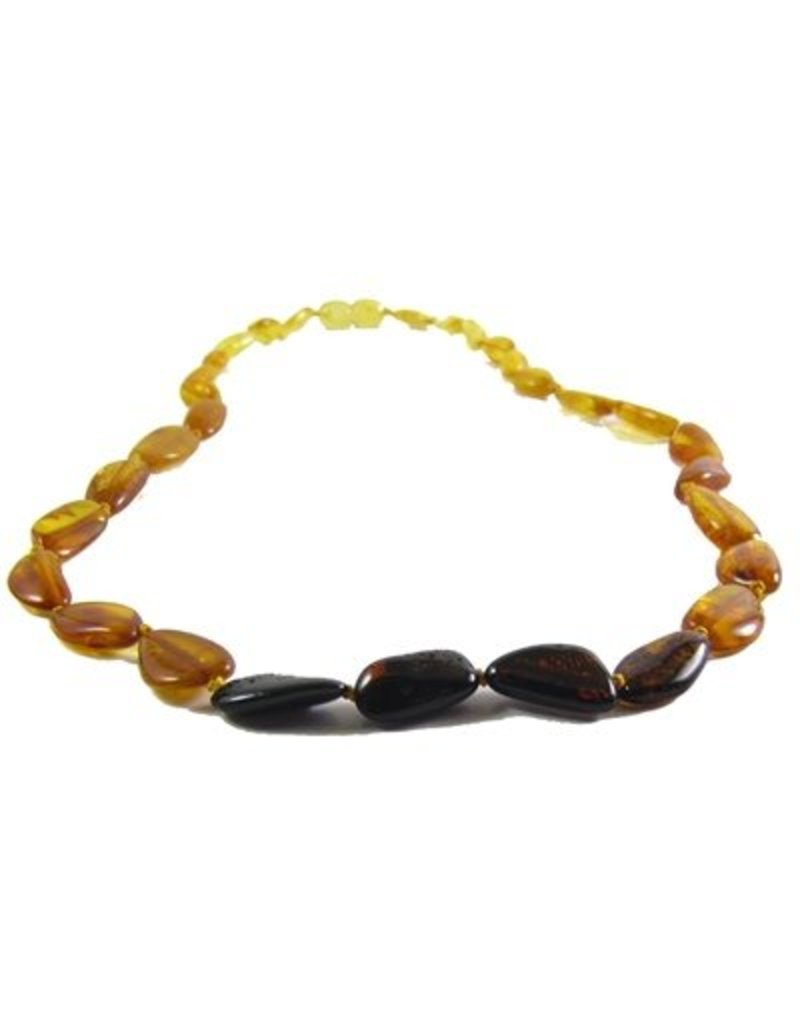 Amber Monkey Bracelet Polished Rainbow Bean Screw 7-8 Inch