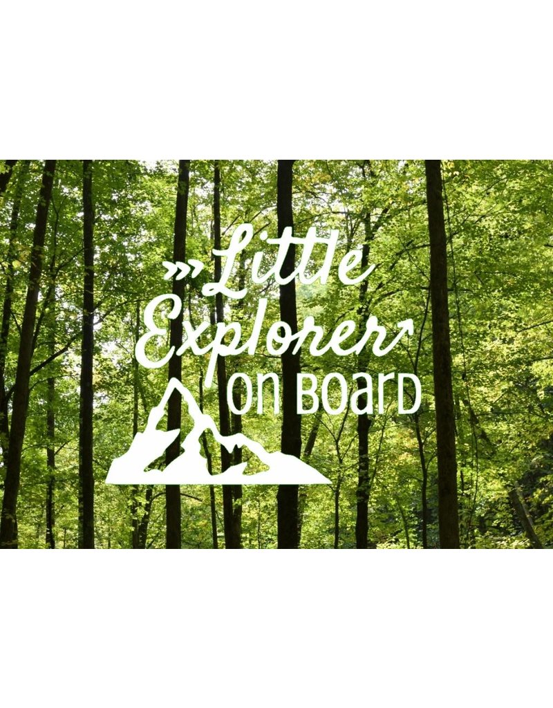 Nappy Shoppe Sticker - Little Explorer on Board