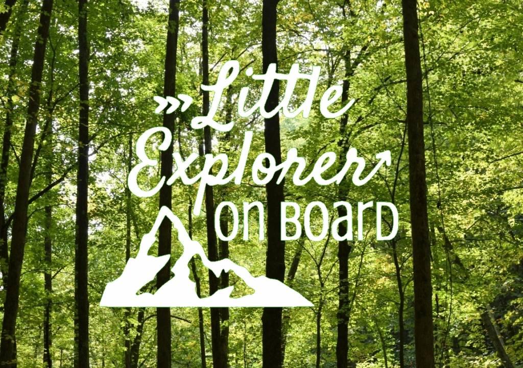 Nappy Shoppe Sticker - Little Explorer on Board