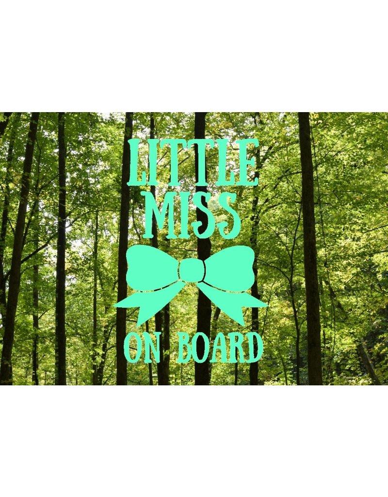 Nappy Shoppe Sticker - Little Miss on Board