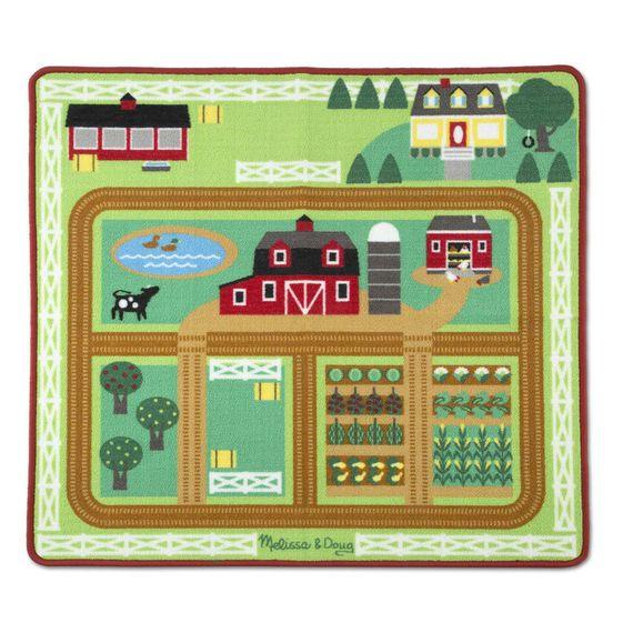 Melissa & Doug Round the Barnyard Farm Rug