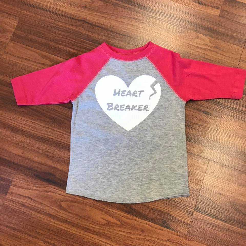 Nappy Shoppe Exclusives Raglan T - Heartbreaker