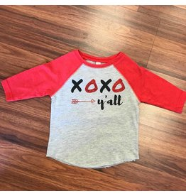 Nappy Shoppe XOXO y'all Raglan - Exclusives