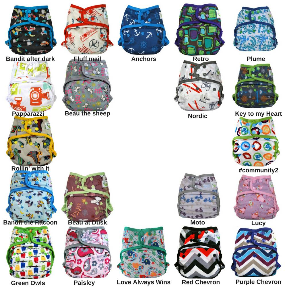 Sweet Pea Sweet Pea One-Size Diaper Cover - Print